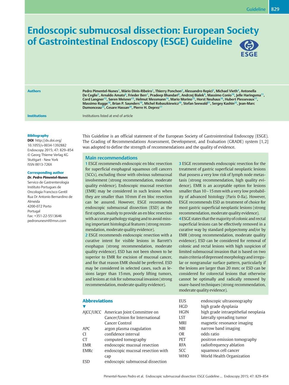 Endoscopy Department: Endoscopy / Abstract
